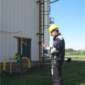 sound intensity on gas turbine