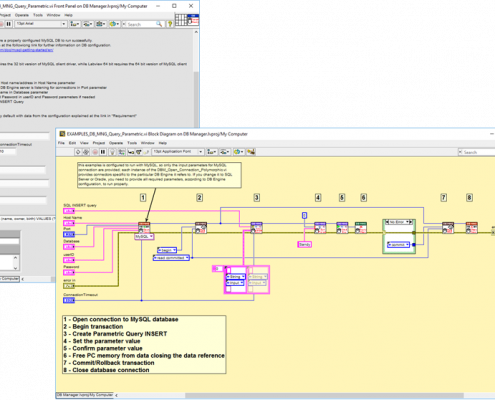 Labview database connection oracle mysql library