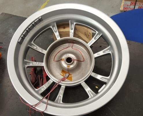 Residual stress sectioning wheel