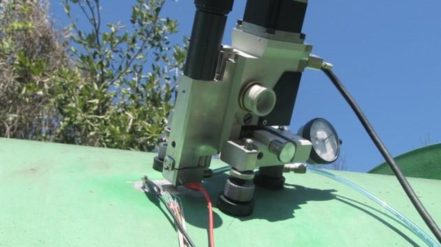 Residual stresss field measurement water pipeline