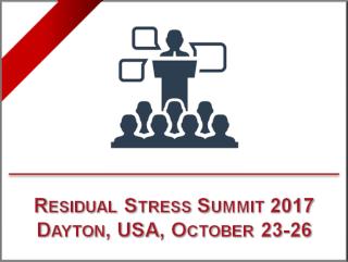 SINT Technology parteciperà al Residual Stress Summit 2017 – 23-26 ottobre, Daytona